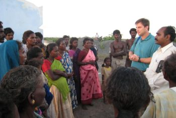 Doug sharing the Gospel in India